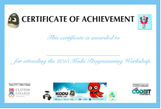 kodu certificate